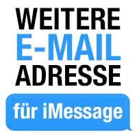 iMessage: Weitere E-Mail-Adresse hinzufügen