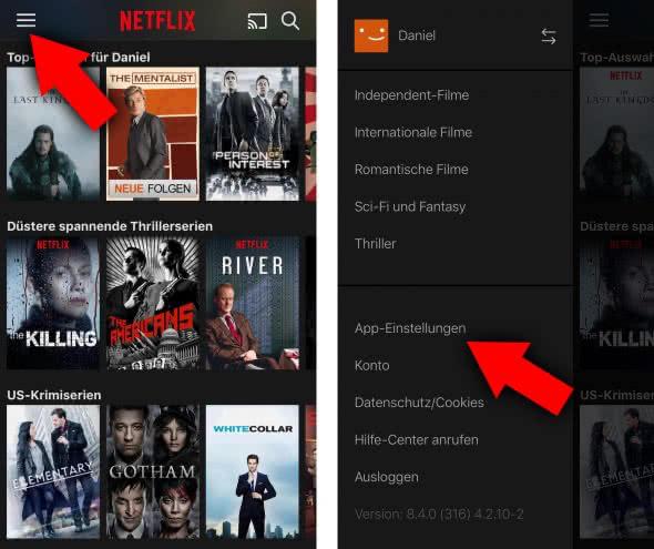 Netflix: Mobilen Datenverbrauch regulieren