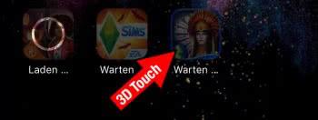 App vor anderen Apps laden & Reihenfolge ändern mit 3D Touch
