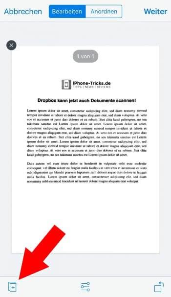 Dokumente scannen mit Dropbox