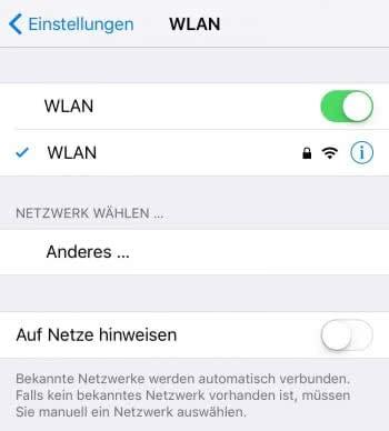 WLAN: Verbindung prüfen
