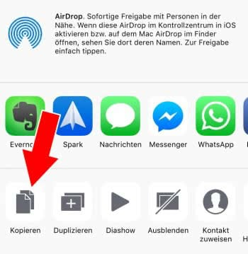 iphone fotos kopieren lukt niet