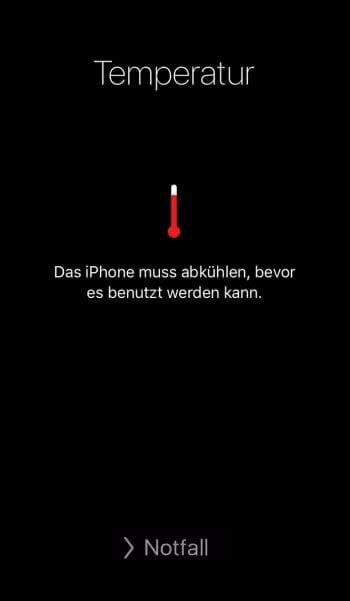 iPhone zu heiß