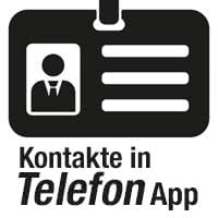 Kontakte & Anrufliste verwalten in Telefon App