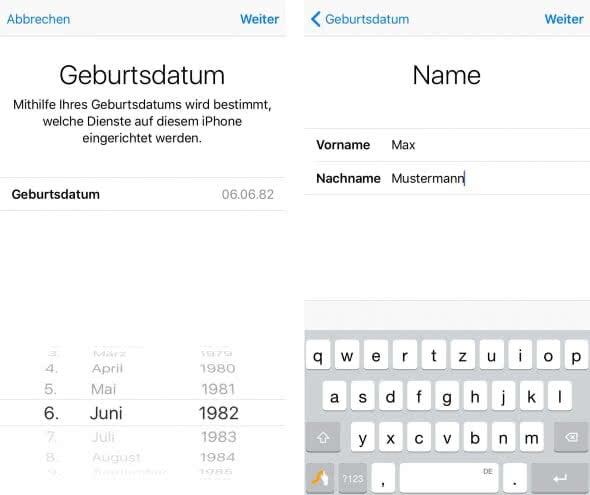 Apple-ID erstellen direkt am iPhone