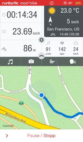 Runtastic Pro Bike Screenshot