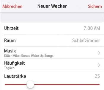 Sonos-Lautsprecher als Wecker verwenden