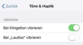 iPhone Vibration einstellen