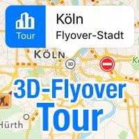 3D-Flyover-Tour verwenden in Karten App
