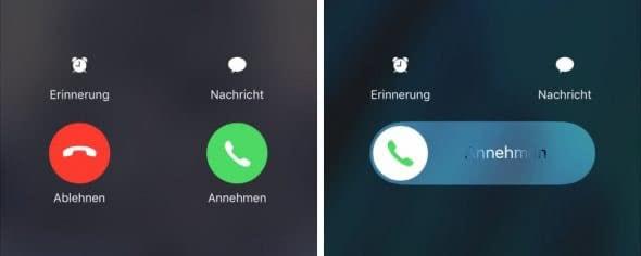 Anruf ablehnen im Lock Screen
