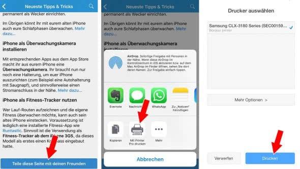 Mit dem iPhone drucken ohne AirPrint
