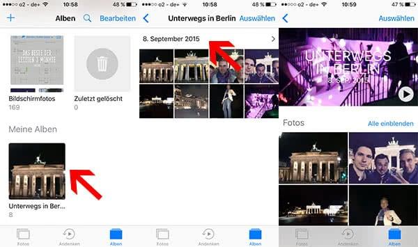 Andenken selbst erstellen in iOS 10