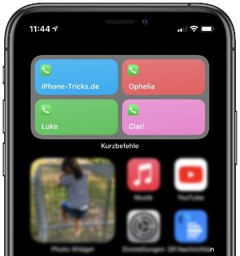 Eigenes Favoriten-Widget auf dem iPhone