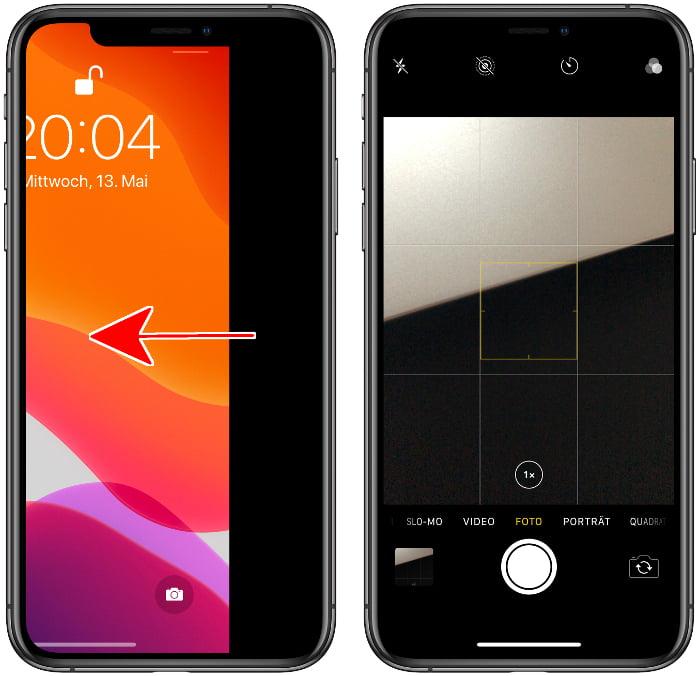 iPhone-Kamera im Sperrbildschirm aktivieren