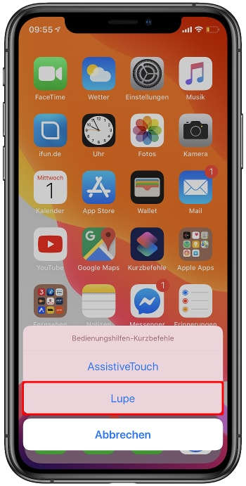 iPhone Lupe aktivieren
