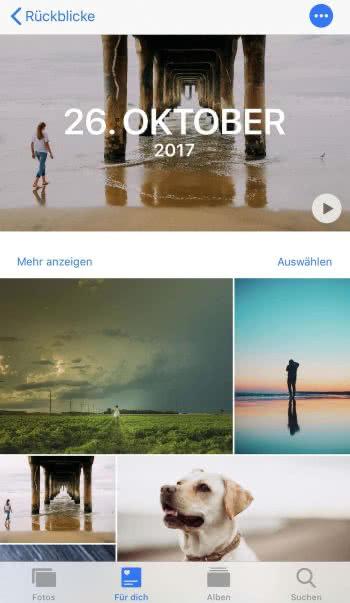 Rückblick in der Fotos-App am iPhone