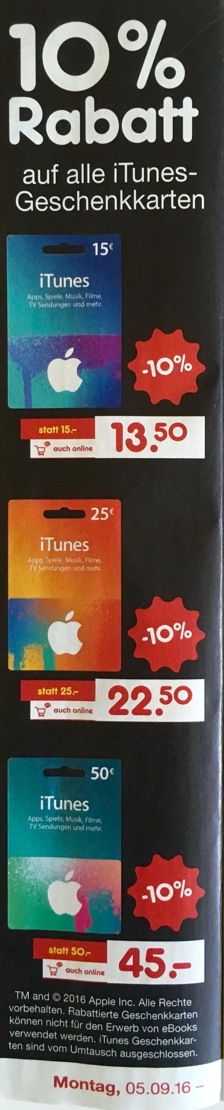 iTunes-Karten bei Netto