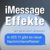 Nachrichten in iMessage mit Effekten versenden – Sprechblasen & Hintergründe