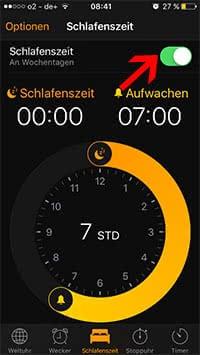 Schlafenszeit-Funktion einrichten und nutzen in iOS 10