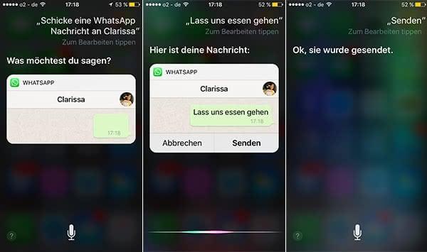 WhatsApp mit Siri steuern mit Problemen