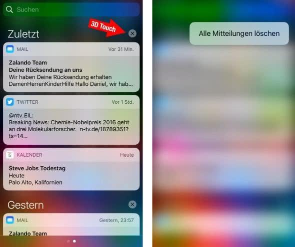 Alle Mitteilungen löschen am iPhone