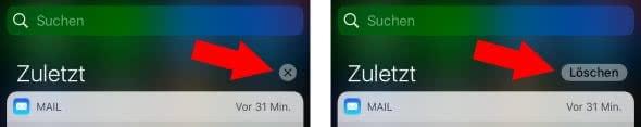 Mitteilungen löschen bis iOS 9
