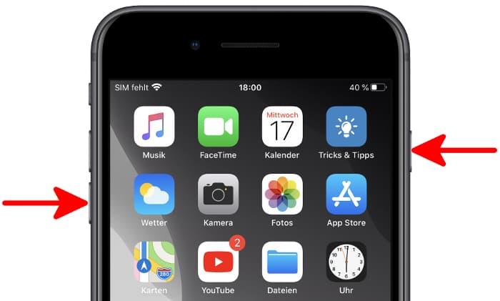 Wartungszustand aktivieren auf dem iPhone 7