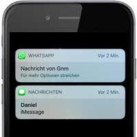 iPhone: WhatsApp auf dem Sperrbildschim anzeigen