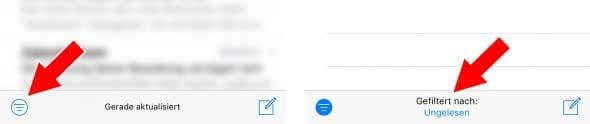 Mail App – Filter einstellen