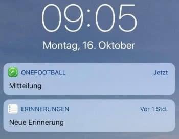 Mitteilungen im iPhone-Sperrbildschirm mit ausgeblendetem Inhalt