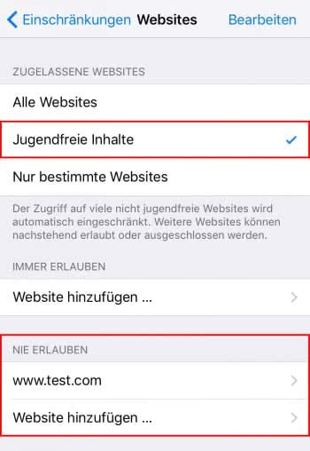 Bestimmte Websites komplett blockieren