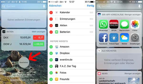 iPhone-Widgets im Lockscreen anzeigen und hinzufügen