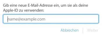 Apple-ID Mail Adresse ändern