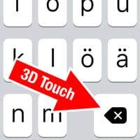 Text schneller löschen mit 3D Touch