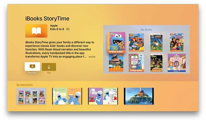 iBooks StoryTime auf dem Apple TV 4