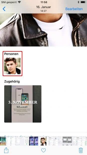 Personen hinzufügen in iPhone Fotos-App