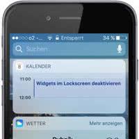 iPhone Widgets im Lockscreen deaktivieren