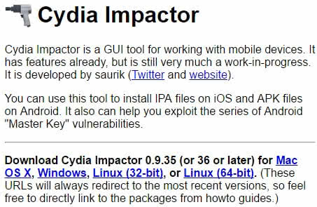Jailbreak iOS 10.2 - Cydia Impactor