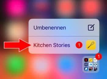 App-Mitteilungen in Ordnern schneller öffnen mit 3D Touch