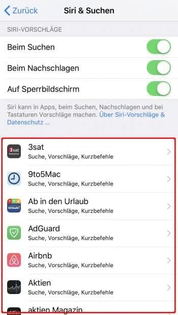 Drittanbieter-Apps mit Siri-Unterstützung suchen