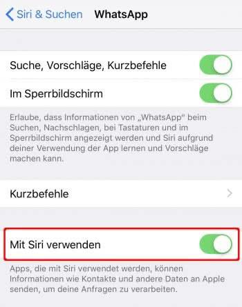 Apps für Siri freigeben