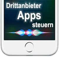 Mit Siri Drittanbieter-Apps steuern