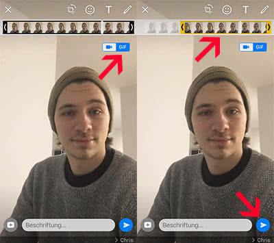 WhatsApp GIF versenden