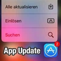 Alle Apps aktualisieren mit 3D Touch