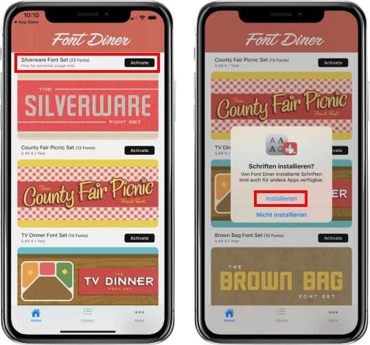 Font Diner App