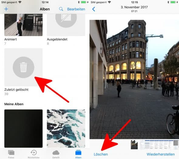 iPhone Fotos endgültig löschen
