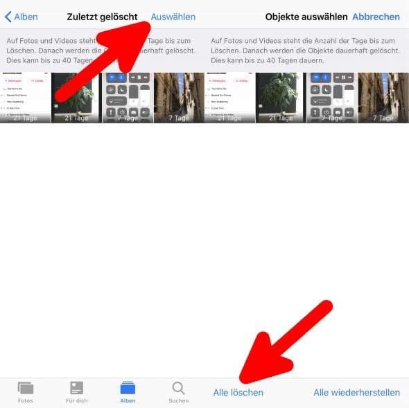 iphone se fotos endgültig löschen