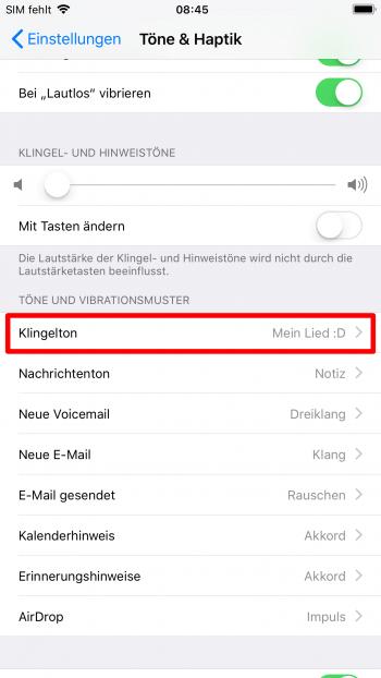 iphone klingeltoene einstellen8