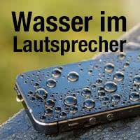 Wasser aus iPhone-Lautsprecher entfernen