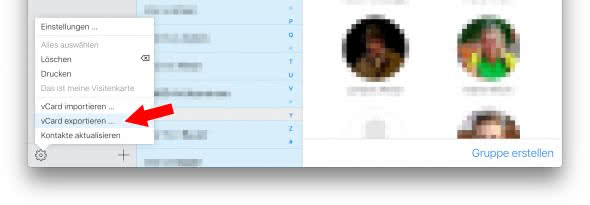 iPhone-Kontakte exportieren